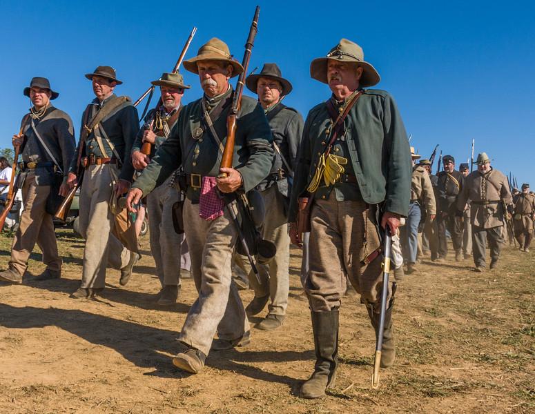 Rebel Troops Entering the Battle Field