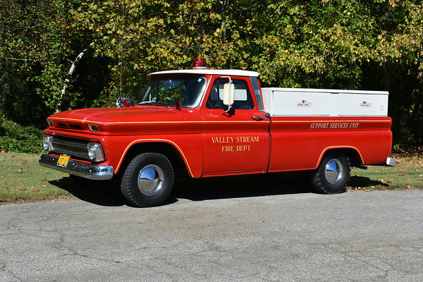 Valley Stream, NY - 1966 Chevrolet pick up used for tournament team, air truck, and hose wagon.  Photographed at the ODHFS 2017 muster in Farmville, VA.