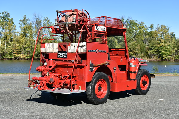Waynesboro, VA General Electric plant now privately owned by the ODHFS club of Virginia.  1951 WIllys CJ3/1953 GE Plant 250/50.  Photographed at the ODHFS 2017 muster in Farmville, VA.