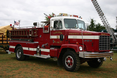 Another photograph of Clear Brook's large 1977 FWD/Grumman-Oren engine as photographed in 2009 at the ATHS truck show in Winchester.