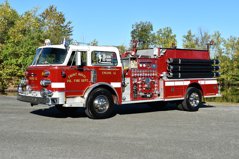 Front Royal, VA ex Engine 12, a 1975 ALF 1000/750 with serial number C-14-4188.  Privately owned and photographed at the ODHFS 2017 muster in Farmville, VA.