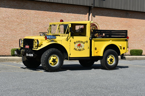 2021 Chesapeake Antique Fire Apparatus Association (CFAA) June muster at the Pleasant Valley VFC in Carroll County, Maryland.  Boring, Maryland Brush 428 1962 Dodge M37A2/1981 FD 125/200 ex US Army In service from 1981 - May, 2017