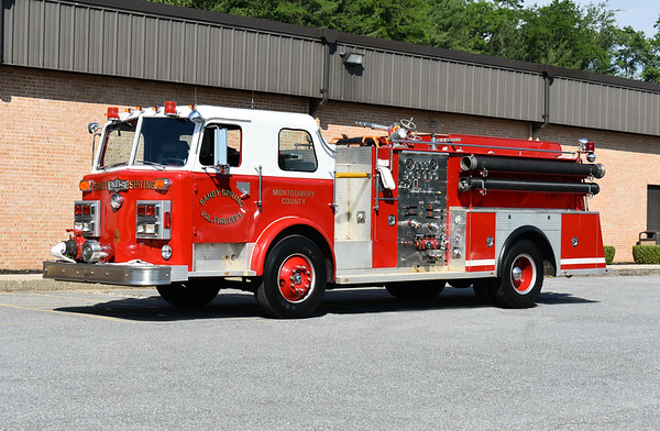 2021 Chesapeake Antique Fire Apparatus Association (CFAA) June muster at the Pleasant Valley VFC in Carroll County, Maryland.  Sandy Spring, Maryland E41 1977 Pirsch 88-C/1990 Mt. Etna 1250/500 sn 3194
