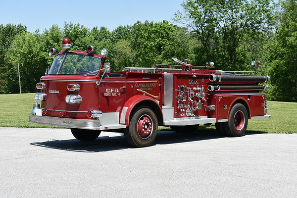 2021 Chesapeake Antique Fire Apparatus Association (CFAA) June muster at the Pleasant Valley VFC in Carroll County, Maryland.  Cumberland, Maryland Engine 4 1962 ALF 900 1000/300 sn 7.1.8788