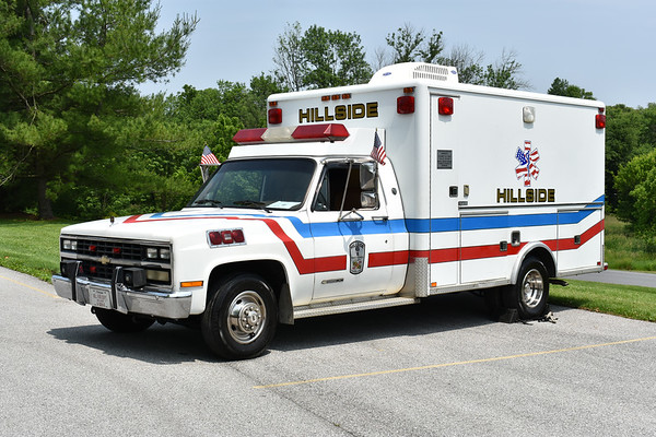Privately owned is this 1989 Chevrolet 3500/Horton ambulance that once ran at the Budds Creek - Maryland International Raceway in Mechanicsville, Maryland.  Photographed at the June 2019 Chesapeake Antique Fire Apparatus Association spring muster in Pleasant Valley, Maryland.