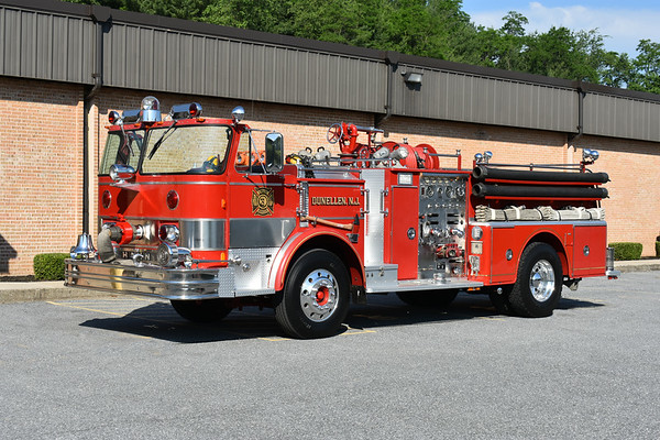 2021 Chesapeake Antique Fire Apparatus Association (CFAA) June muster at the Pleasant Valley VFC in Carroll County, Maryland.  Dunellen, New Jersey 1974 Hahn HC112107425 1000/500