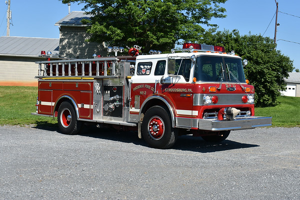Privately owned in Virginia is Stroudsburg, Pennsylvania old Engine 38-1-6.  1985 Ford C8000 with a 1986 Pierce Suburban body.  Top mount 1000/500.  It carries Pierce job number E3141.