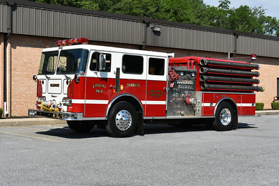 2021 Chesapeake Antique Fire Apparatus Association (CFAA) June muster at the Pleasant Valley VFC in Carroll County, Maryland.  Cresson, PA Engine 70-2 1990 Seagrave JB70DH 2000/750 sn Y-78240