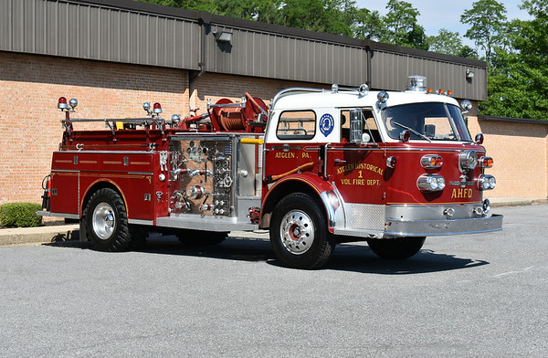 2021 Chesapeake Antique Fire Apparatus Association (CFAA) June muster at the Pleasant Valley VFC in Carroll County, Maryland.  Atglen, PA 1968 ALF 900 1500/300 sn 12.1.1515 ex- Suffern, NY