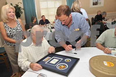 ASF's Apollo 13 40th Anniversary Friday Astronaut Signing of Centerpieces and Auction Items