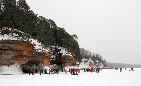 Pat Christman<br /> More than 21,000 visitors toured the ice caves last weekend, a record for the National Lakeshore.