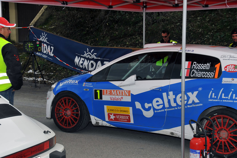 NENDAZ, October<br /> Winner of the International Valais Rally at the start in Nendaz