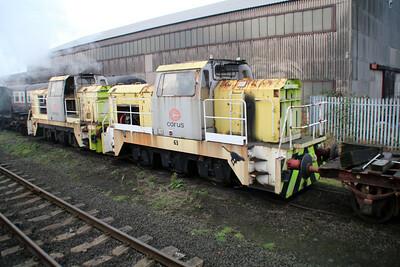 Yorks Engine Co 0-6-0DE Preserved ex Corus Loco's 61 & 63 at Appleby Frodingham Railway, Scunthorpe Tata 24/11/12.