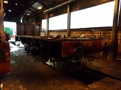 0-6-0ST No22 (3846) ex NVR under restoration   28/01/17