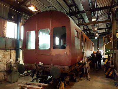 LMS 30106/DM395280 under restoration in the shed   28/01/17
