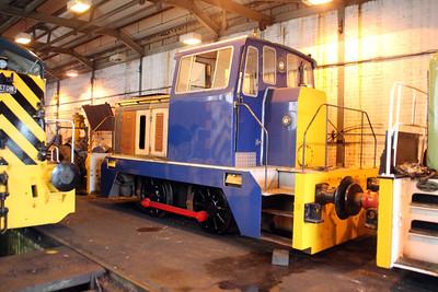 Hudswell Clake 0-4-0DM D1344/DL15 'Beverley' at Appleby Frodingham Railway, Scunthorpe Tata 24/11/12.