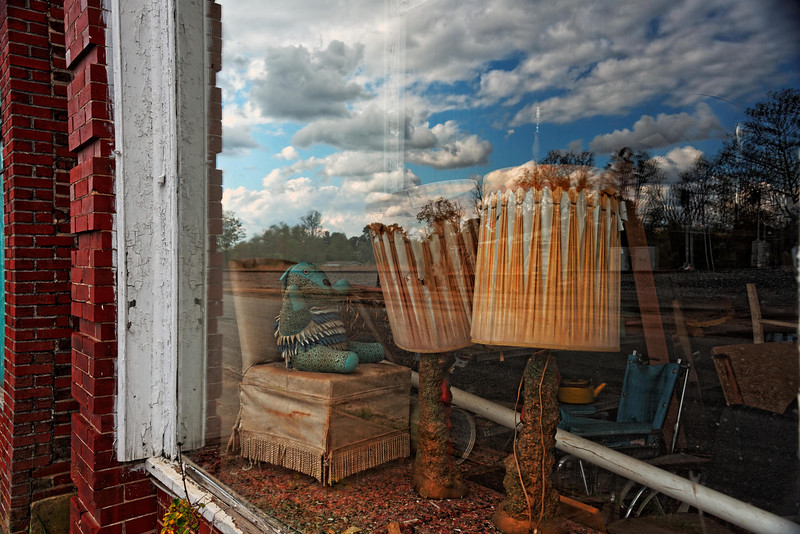 Display window on main street in Pamplin.