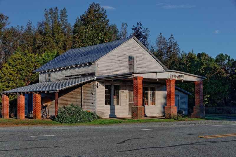 J. B. Holeman Store in Paynes-Tavern Community, Person County