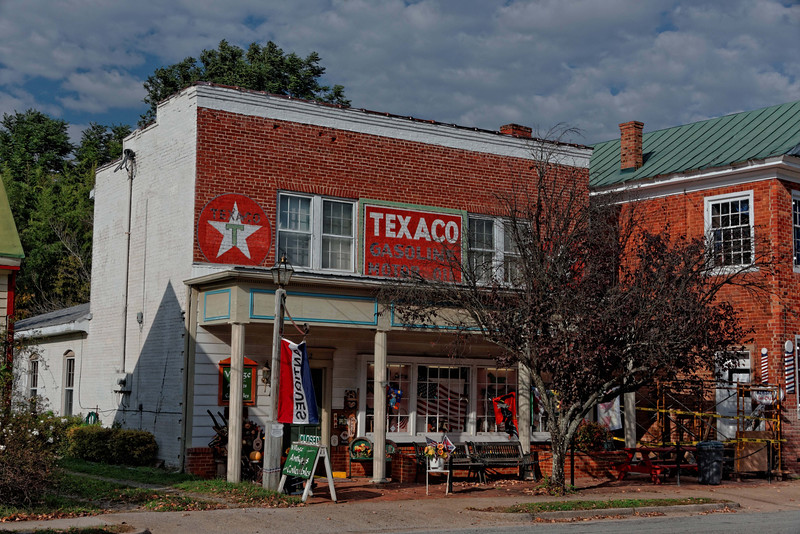 Old Texaco Station, now antique shop, Charlotte Court House, VA
