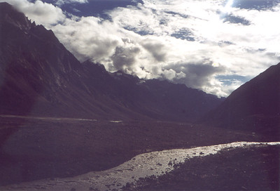 mountain valley road to kye gompa SHANKAR