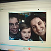 "Our niece, Terry, and her husband, Davide, and daughter, Maria Chiara, or ""Iaia""-skyped us for the first time, and here is their picture on the computer!"