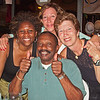 Kaunda suggested dinner at the Mineshaft. Here he is with the ladies!