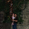 Mommy and Daddy took Hallie for a special family of three dinner to The Rainforest Cafe