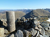 Summit of Beinn Fhionnlaidh looking noth towards Ben Nevis on Sunday 29th April 2012