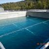 Hydrostatic test south sedimentation basin