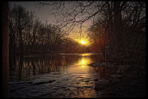 View of sunrise along the White River on April 1 from under the Raible Street bridge.<br /> <br /> Photographer's Name: Terry Lynn Ayers<br /> Photographer's City and State: Anderson, Ind.