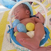 My daughter Lindsay took this picture of my new great-grandson, Trenten. What a cute Easter basket.<br /> <br /> Photographer's Name: Rita Drews<br /> Photographer's City and State: Anderson, Ind.