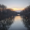 White River at sunrise from the top of the Raible Street bridge.<br /> <br /> Photographer's Name: Terry Lynn Ayers<br /> Photographer's City and State: Anderson, Ind.