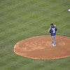 "Famous man opens for the mariners, the whole ""ceremonial pitch"" thing. <br /> Russell...Wilson, is it? ;)"