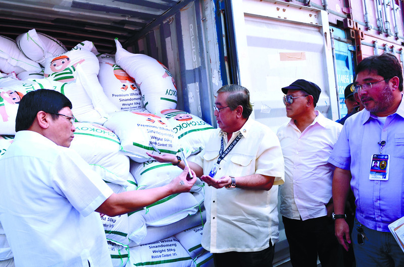 Customs seizes smuggled rice declared as stone slabs in Cebu City