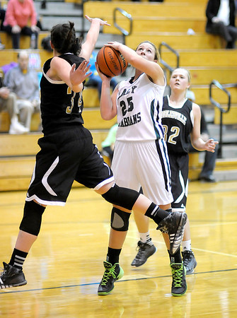 Don Knight / The Herald Bulletin<br /> Pendleton Heights hosted Noblesville on Wednesday.