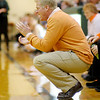 Tod Windlan coaches the Hamilton Heights Huskies as they faced the Pendleton Heights Arabians on Wednesday.