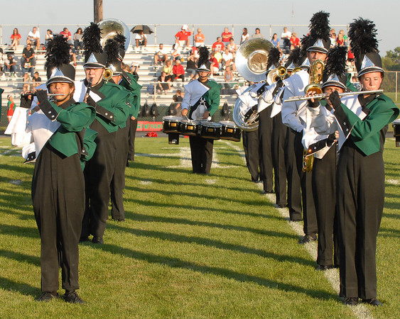 Pendleton Heights Marching Arabians performs the National Anthem.