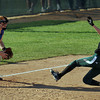 Pendleton Heights' Sarah Dixon slides into third in the sixth inning. Pendleton Heights High School defeated Elwood High School 5 to 1 to win the county softball tournament Saturday, April 19 at Pendleton. For THB / Richard Sitler