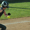 Pendleton's Sarah Dixon got things going in the sixth inning by getting on base with a bunt. Pendleton Heights High School defeated Elwood High School 5 to 1 to win the county softball tournament Saturday, April 19 at Pendleton. For THB / Richard Sitler