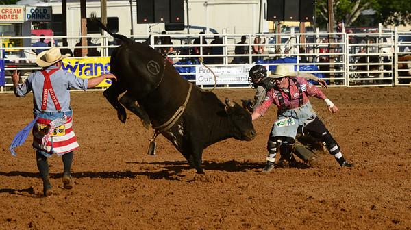 Arcadia rodeo Bull riders