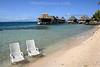 Strandleben auf Bora Bora. Tahiti. Französisch-Polynesien. / Beach.
