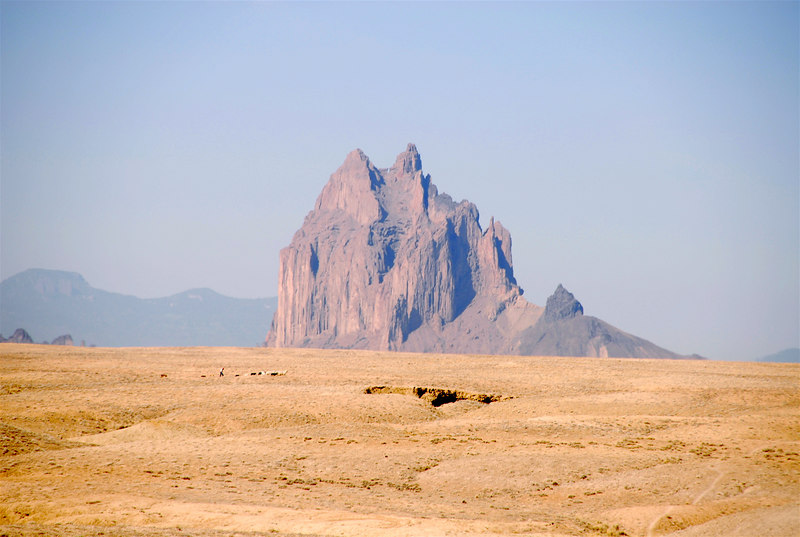 Shiprock, NM   The most famous Rock in New Mexico