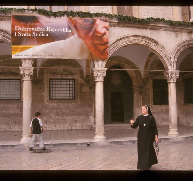 Prior to the Pope's visit, Dubrovnik, Croatia.