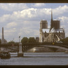 Notre Dame cathedral and the river Seine, Paris, France.
