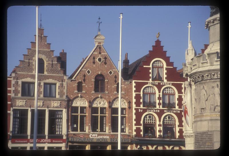 Buildings in city center, Bruges, Belgium