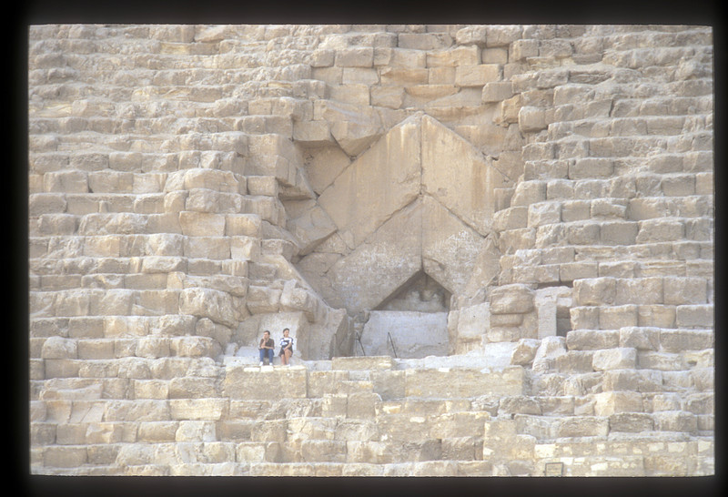 Detail of the Great Pyramid, Giza, Egypt.