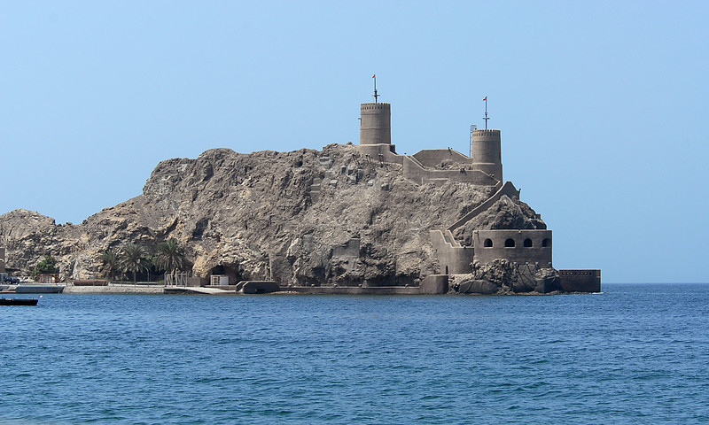 The fort at Muscat, Oman.