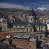 Mt. Illimani and La Paz, Bolivia.