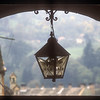 Lamp and arch, Sighisoara, Transylvania, Romania.
