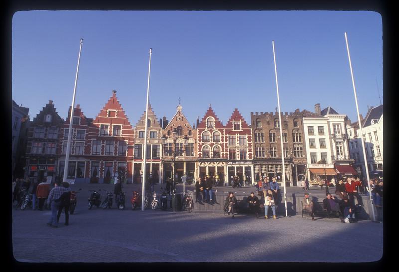 City square, Bruges, Belgium.